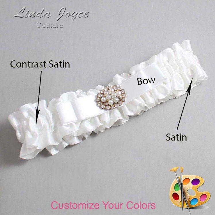 Couture Garters / Custom Wedding Garter / Customizable Wedding Garters / Personalized Wedding Garters / Lily #01-B20-M16 / Wedding Garters / Bridal Garter / Prom Garter / Linda Joyce Couture