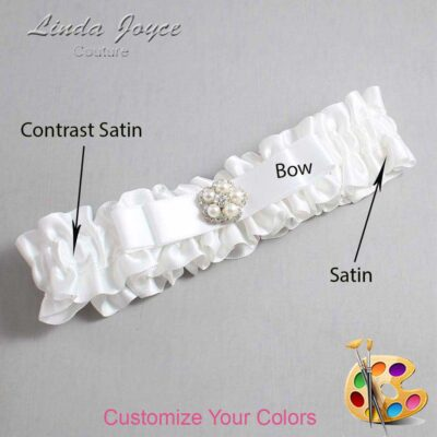 Couture Garters / Custom Wedding Garter / Customizable Wedding Garters / Personalized Wedding Garters / Audrey #01-B20-M20 / Wedding Garters / Bridal Garter / Prom Garter / Linda Joyce Couture