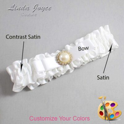 Couture Garters / Custom Wedding Garter / Customizable Wedding Garters / Personalized Wedding Garters / Jade #01-B20-M21 / Wedding Garters / Bridal Garter / Prom Garter / Linda Joyce Couture