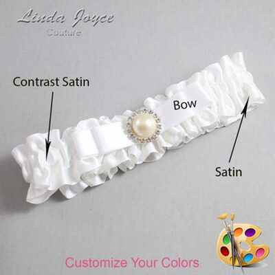 Customizable Wedding Garter / Jade #01-B20-M22