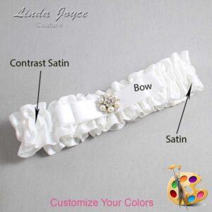 Couture Garters / Custom Wedding Garter / Customizable Wedding Garters / Personalized Wedding Garters / Frances #01-B20-M23 / Wedding Garters / Bridal Garter / Prom Garter / Linda Joyce Couture