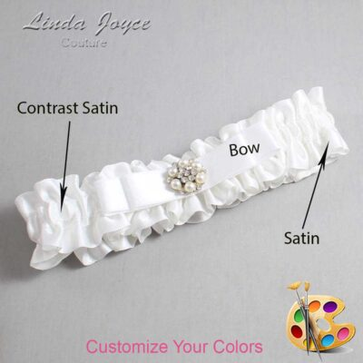 Couture Garters / Custom Wedding Garter / Customizable Wedding Garters / Personalized Wedding Garters / Frances #01-B20-M23 / Wedding Garters / Bridal Garter / Prom Garter / Linda Joyce Couture