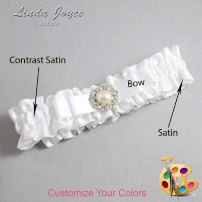 Couture Garters / Custom Wedding Garter / Customizable Wedding Garters / Personalized Wedding Garters / Brianna #01-B20-M24 / Wedding Garters / Bridal Garter / Prom Garter / Linda Joyce Couture
