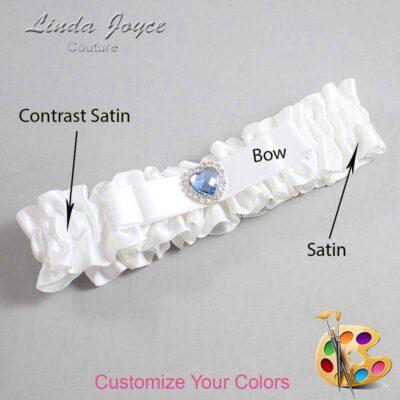 Couture Garters / Custom Wedding Garter / Customizable Wedding Garters / Personalized Wedding Garters / Louann #01-B20-M25 / Wedding Garters / Bridal Garter / Prom Garter / Linda Joyce Couture