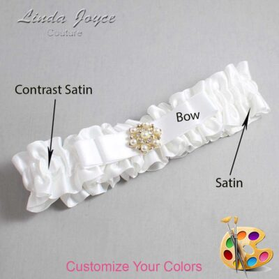 Couture Garters / Custom Wedding Garter / Customizable Wedding Garters / Personalized Wedding Garters / Becky #01-B20-M27 / Wedding Garters / Bridal Garter / Prom Garter / Linda Joyce Couture