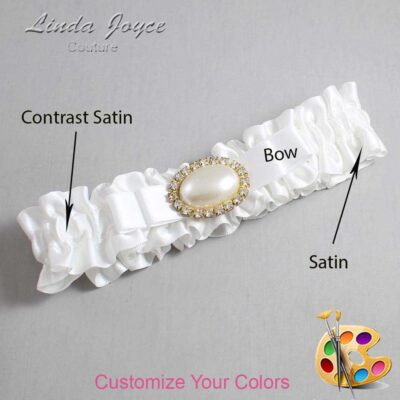 Couture Garters / Custom Wedding Garter / Customizable Wedding Garters / Personalized Wedding Garters / Martha #01-B20-M28 / Wedding Garters / Bridal Garter / Prom Garter / Linda Joyce Couture