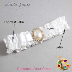 Couture Garters / Custom Wedding Garter / Customizable Wedding Garters / Personalized Wedding Garters / Molly #01-B20-M29 / Wedding Garters / Bridal Garter / Prom Garter / Linda Joyce Couture