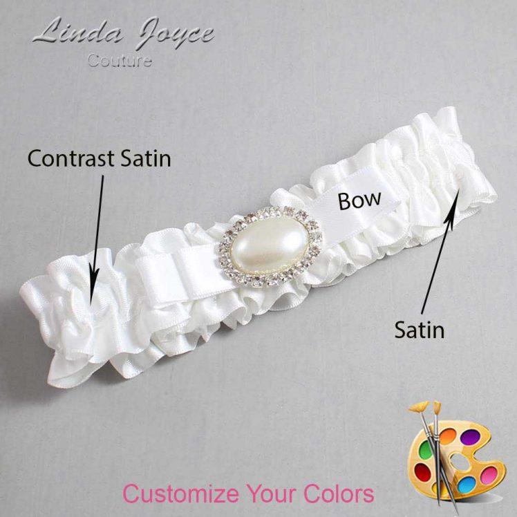 Couture Garters / Custom Wedding Garter / Customizable Wedding Garters / Personalized Wedding Garters / Martha #01-B20-M30 / Wedding Garters / Bridal Garter / Prom Garter / Linda Joyce Couture