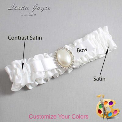 Couture Garters / Custom Wedding Garter / Customizable Wedding Garters / Personalized Wedding Garters / Molly #01-B20-M31 / Wedding Garters / Bridal Garter / Prom Garter / Linda Joyce Couture
