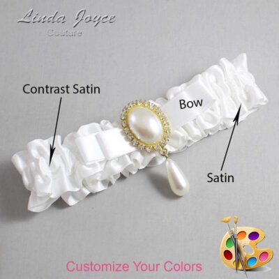 Couture Garters / Custom Wedding Garter / Customizable Wedding Garters / Personalized Wedding Garters / Myra #01-B20-M34 / Wedding Garters / Bridal Garter / Prom Garter / Linda Joyce Couture