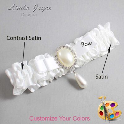 Couture Garters / Custom Wedding Garter / Customizable Wedding Garters / Personalized Wedding Garters / Myra #01-B20-M35 / Wedding Garters / Bridal Garter / Prom Garter / Linda Joyce Couture