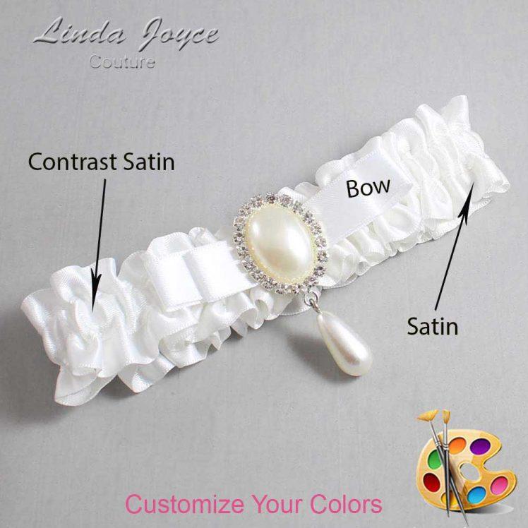 Couture Garters / Custom Wedding Garter / Customizable Wedding Garters / Personalized Wedding Garters / Myra #01-B20-M35 / Wedding Garters / Bridal Garter / Prom Garter / Linda Joyce Couture