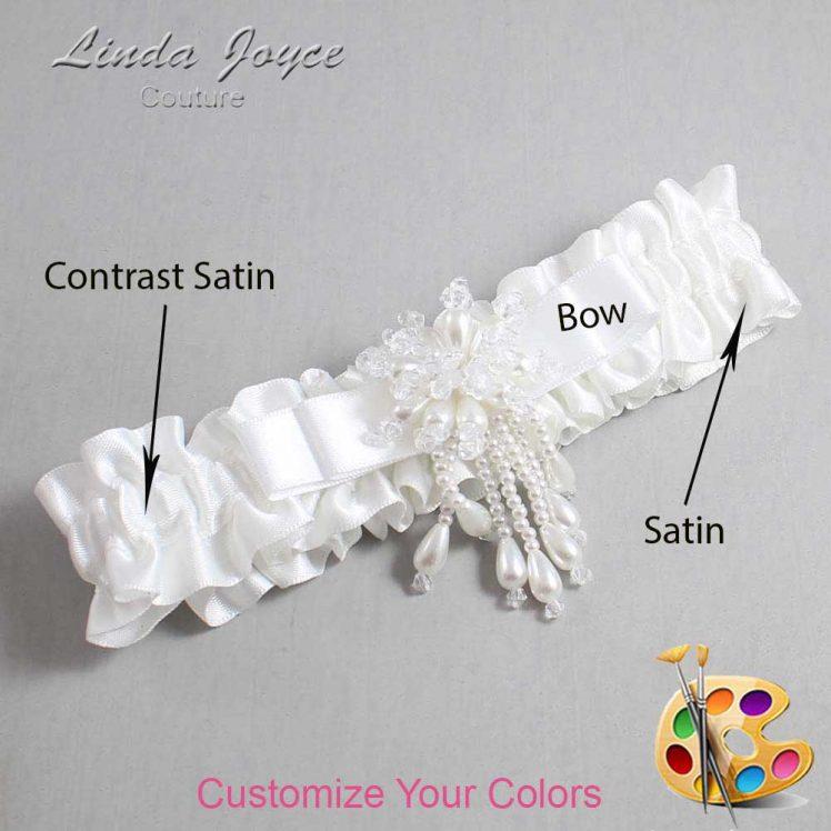 Couture Garters / Custom Wedding Garter / Customizable Wedding Garters / Personalized Wedding Garters / Regina #01-B20-M38 / Wedding Garters / Bridal Garter / Prom Garter / Linda Joyce Couture