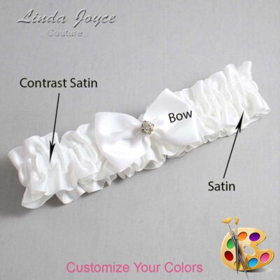 Couture Garters / Custom Wedding Garter / Customizable Wedding Garters / Personalized Wedding Garters / Melba #01-B21-M03 / Wedding Garters / Bridal Garter / Prom Garter / Linda Joyce Couture