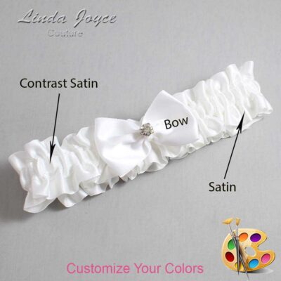 Couture Garters / Custom Wedding Garter / Customizable Wedding Garters / Personalized Wedding Garters / Melba #01-B21-M04 / Wedding Garters / Bridal Garter / Prom Garter / Linda Joyce Couture
