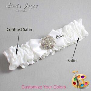 Couture Garters / Custom Wedding Garter / Customizable Wedding Garters / Personalized Wedding Garters / Abigail #01-B21-M11 / Wedding Garters / Bridal Garter / Prom Garter / Linda Joyce Couture