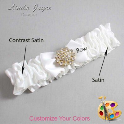 Couture Garters / Custom Wedding Garter / Customizable Wedding Garters / Personalized Wedding Garters / Carrie #01-B21-M12 / Wedding Garters / Bridal Garter / Prom Garter / Linda Joyce Couture