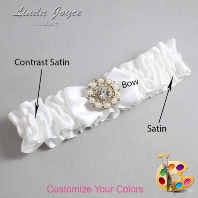 Couture Garters / Custom Wedding Garter / Customizable Wedding Garters / Personalized Wedding Garters / Beth #01-B21-M14 / Wedding Garters / Bridal Garter / Prom Garter / Linda Joyce Couture