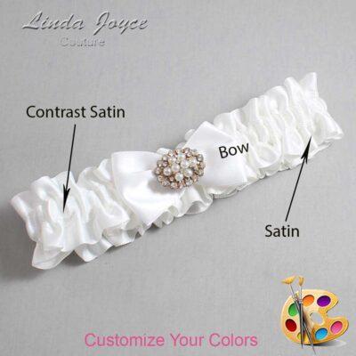 Couture Garters / Custom Wedding Garter / Customizable Wedding Garters / Personalized Wedding Garters / Annika #01-B21-M16 / Wedding Garters / Bridal Garter / Prom Garter / Linda Joyce Couture