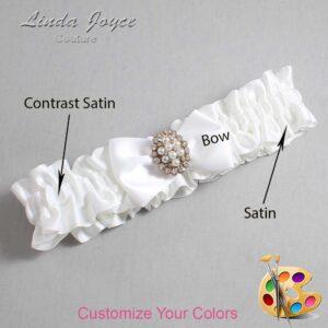 Couture Garters / Custom Wedding Garter / Customizable Wedding Garters / Personalized Wedding Garters / Betty #01-B21-M17 / Wedding Garters / Bridal Garter / Prom Garter / Linda Joyce Couture