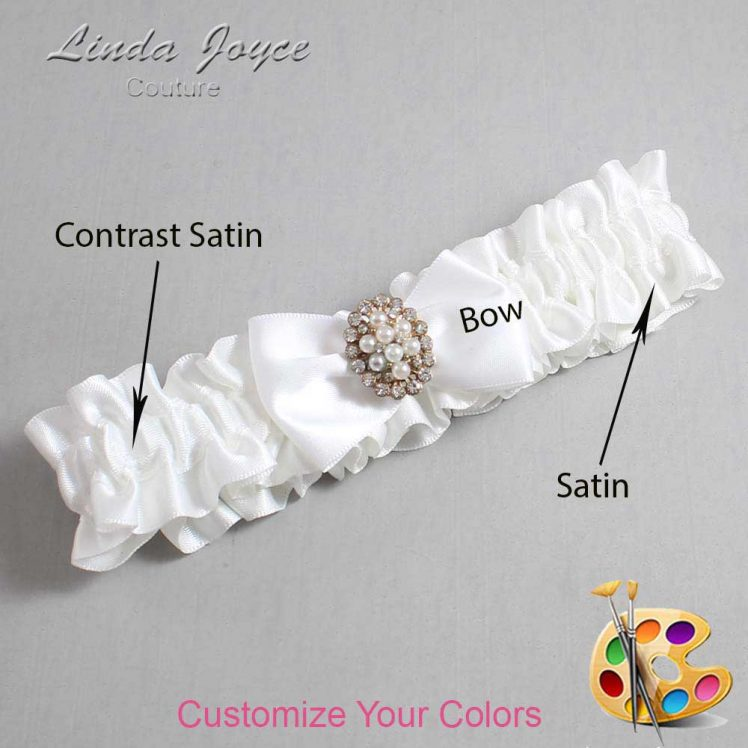 Couture Garters / Custom Wedding Garter / Customizable Wedding Garters / Personalized Wedding Garters / Betty #01-B21-M17 / Wedding Garters / Bridal Garter / Prom Garter / Linda Joyce Couture