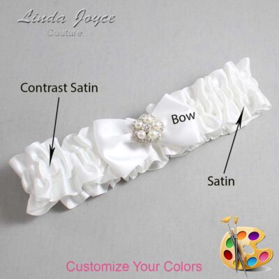 Couture Garters / Custom Wedding Garter / Customizable Wedding Garters / Personalized Wedding Garters / Brittney #01-B21-M20 / Wedding Garters / Bridal Garter / Prom Garter / Linda Joyce Couture