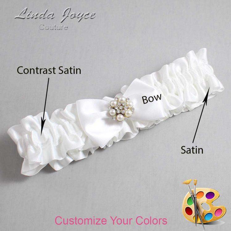 Couture Garters / Custom Wedding Garter / Customizable Wedding Garters / Personalized Wedding Garters / Alexia #01-B21-M23 / Wedding Garters / Bridal Garter / Prom Garter / Linda Joyce Couture