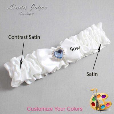 Couture Garters / Custom Wedding Garter / Customizable Wedding Garters / Personalized Wedding Garters / Alice #01-B21-M25 / Wedding Garters / Bridal Garter / Prom Garter / Linda Joyce Couture