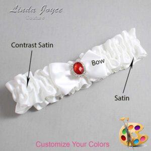 Couture Garters / Custom Wedding Garter / Customizable Wedding Garters / Personalized Wedding Garters / Lesley #01-B21-M26 / Wedding Garters / Bridal Garter / Prom Garter / Linda Joyce Couture