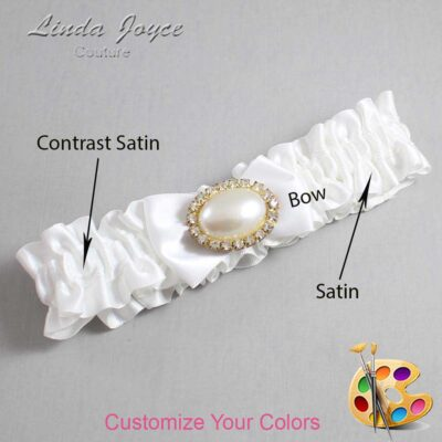 Couture Garters / Custom Wedding Garter / Customizable Wedding Garters / Personalized Wedding Garters / Bernie #01-B21-M28 / Wedding Garters / Bridal Garter / Prom Garter / Linda Joyce Couture