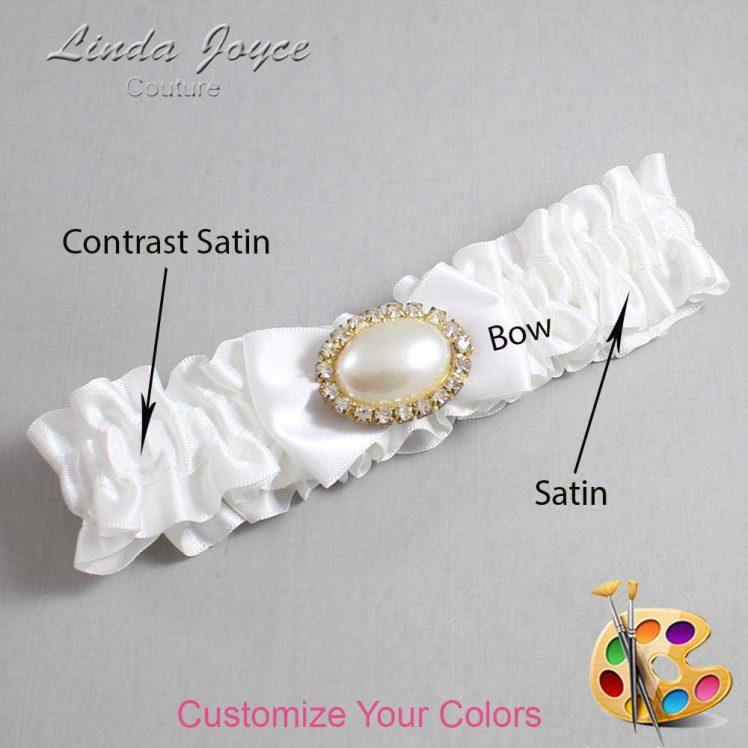 Couture Garters / Custom Wedding Garter / Customizable Wedding Garters / Personalized Wedding Garters / Bernie #01-B21-M28 / Wedding Garters / Bridal Garter / Prom Garter / Linda Joyce Couture
