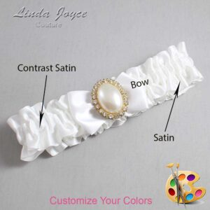 Couture Garters / Custom Wedding Garter / Customizable Wedding Garters / Personalized Wedding Garters / Chelsea #01-B21-M29 / Wedding Garters / Bridal Garter / Prom Garter / Linda Joyce Couture