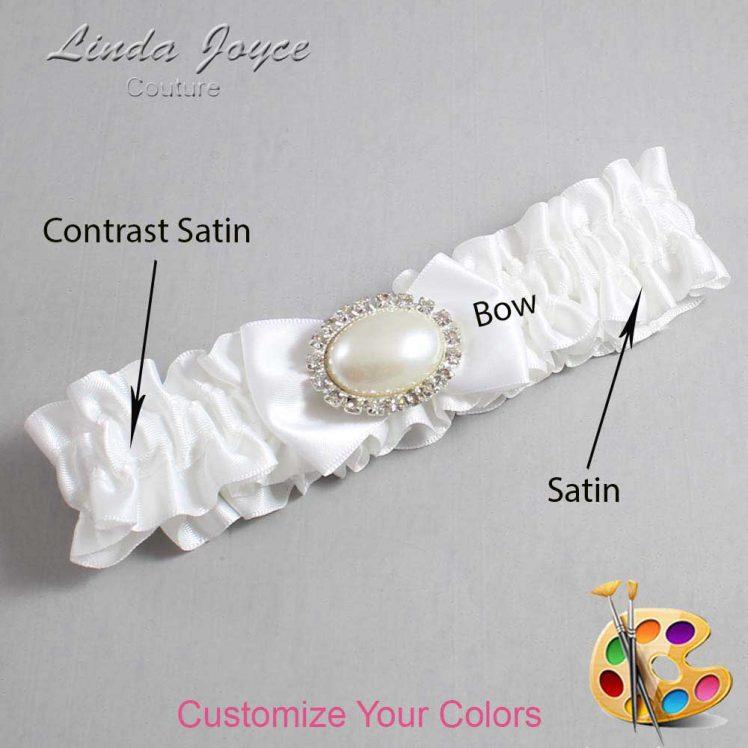 Couture Garters / Custom Wedding Garter / Customizable Wedding Garters / Personalized Wedding Garters / Bernie #01-B21-M30 / Wedding Garters / Bridal Garter / Prom Garter / Linda Joyce Couture
