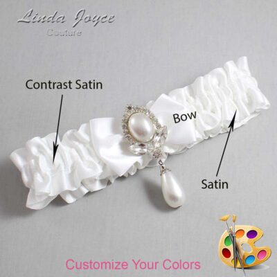 Couture Garters / Custom Wedding Garter / Customizable Wedding Garters / Personalized Wedding Garters / Afton #01-B21-M32 / Wedding Garters / Bridal Garter / Prom Garter / Linda Joyce Couture