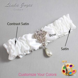 Couture Garters / Custom Wedding Garter / Customizable Wedding Garters / Personalized Wedding Garters / Constance #01-B21-M33 / Wedding Garters / Bridal Garter / Prom Garter / Linda Joyce Couture