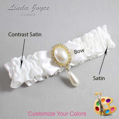 Couture Garters / Custom Wedding Garter / Customizable Wedding Garters / Personalized Wedding Garters / Victoria #01-B21-M34 / Wedding Garters / Bridal Garter / Prom Garter / Linda Joyce Couture