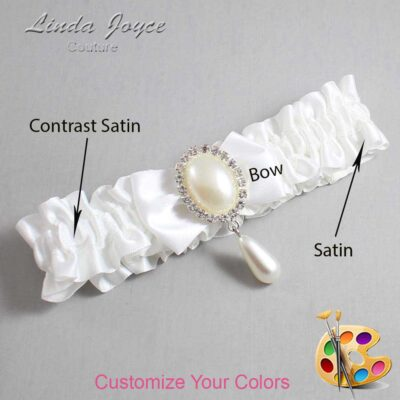 Couture Garters / Custom Wedding Garter / Customizable Wedding Garters / Personalized Wedding Garters / Victoria #01-B21-M35 / Wedding Garters / Bridal Garter / Prom Garter / Linda Joyce Couture