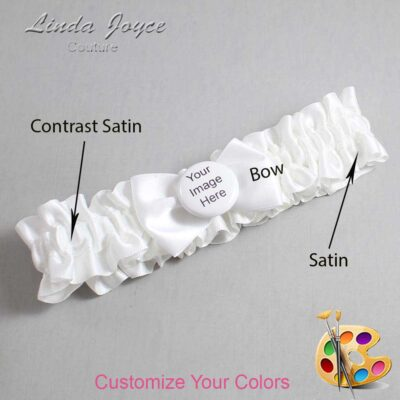 Customizable Wedding Garter / US-Military Custom Button #01-B21-M44