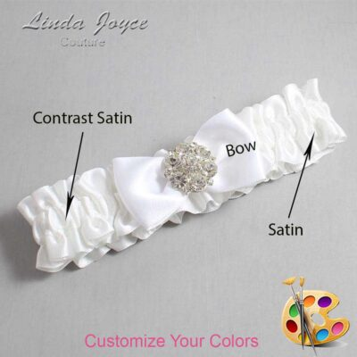 Couture Garters / Custom Wedding Garter / Customizable Wedding Garters / Personalized Wedding Garters / Michelle #01-B31-M11 / Wedding Garters / Bridal Garter / Prom Garter / Michelle Joyce Couture
