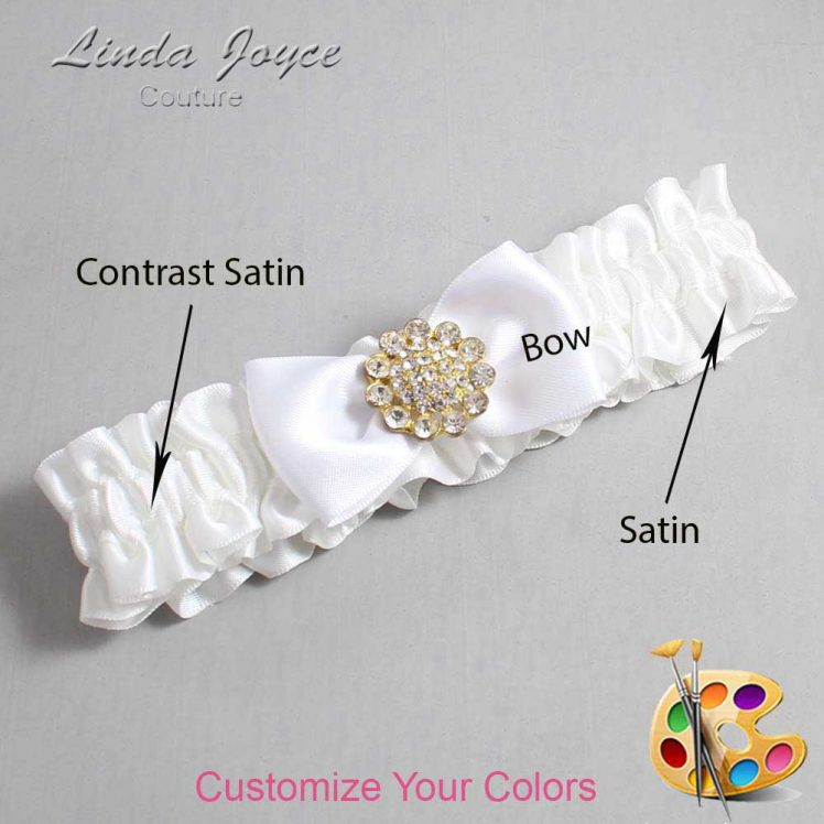 Couture Garters / Custom Wedding Garter / Customizable Wedding Garters / Personalized Wedding Garters / Loretta #01-B31-M12 / Wedding Garters / Bridal Garter / Prom Garter / Loretta Joyce Couture