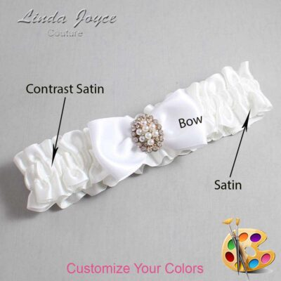 Couture Garters / Custom Wedding Garter / Customizable Wedding Garters / Personalized Wedding Garters / Lona #01-B31-M17 / Wedding Garters / Bridal Garter / Prom Garter / Lona Joyce Couture