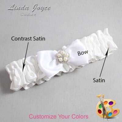 Couture Garters / Custom Wedding Garter / Customizable Wedding Garters / Personalized Wedding Garters / Laureen #01-B31-M20 / Wedding Garters / Bridal Garter / Prom Garter / Laureen Joyce Couture
