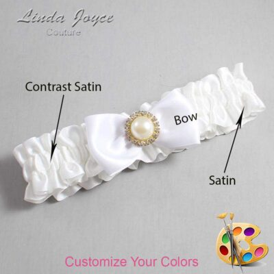 Couture Garters / Custom Wedding Garter / Customizable Wedding Garters / Personalized Wedding Garters / Kendra #01-B31-M21 / Wedding Garters / Bridal Garter / Prom Garter / Kendra Joyce Couture