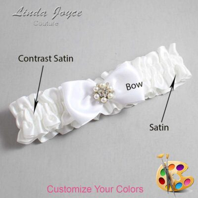Customizable Wedding Garter / Naomi #01-B31-M23