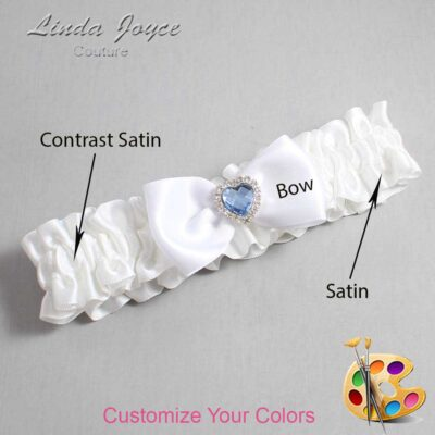 Couture Garters / Custom Wedding Garter / Customizable Wedding Garters / Personalized Wedding Garters / Judy #01-B31-M25 / Wedding Garters / Bridal Garter / Prom Garter / Judy Joyce Couture