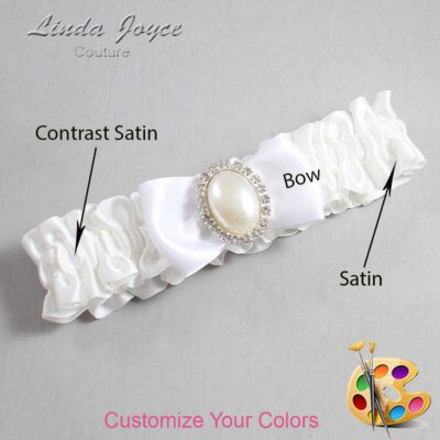 Customizable Wedding Garter / Maggie #01-B31-M31