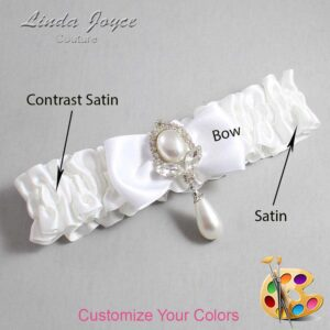 Couture Garters / Custom Wedding Garter / Customizable Wedding Garters / Personalized Wedding Garters / Joan #01-B31-M32 / Wedding Garters / Bridal Garter / Prom Garter / Joan Joyce Couture