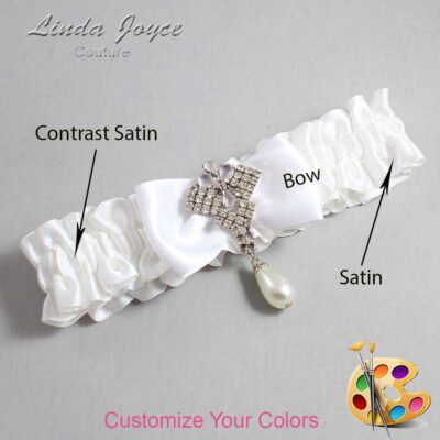 Couture Garters / Custom Wedding Garter / Customizable Wedding Garters / Personalized Wedding Garters / Mavis #01-B31-M33 / Wedding Garters / Bridal Garter / Prom Garter / Mavis Joyce Couture