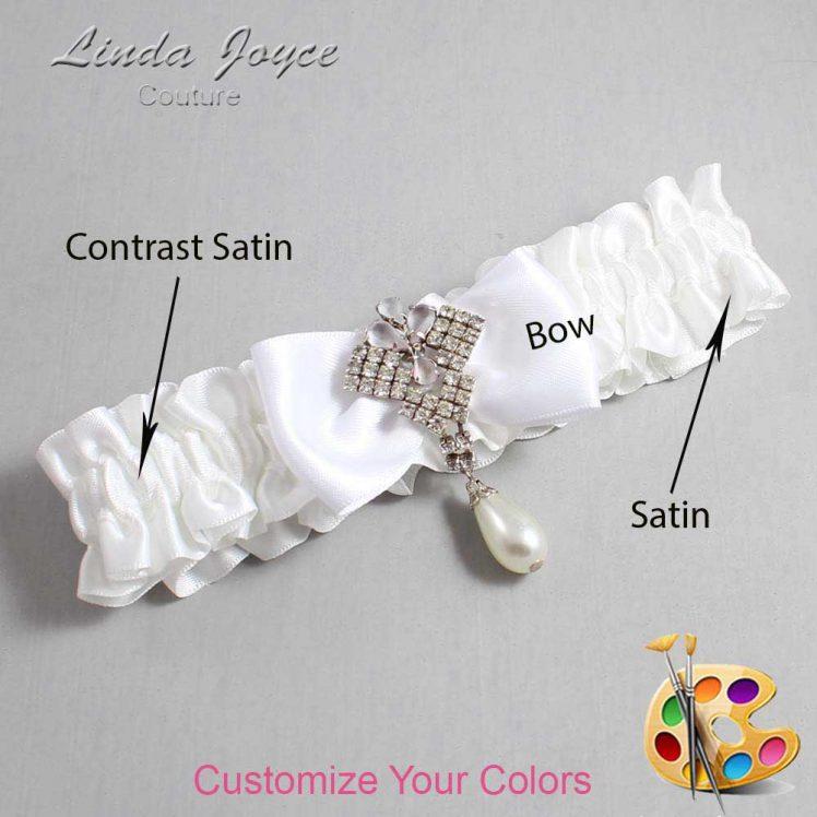 Couture Garters / Custom Wedding Garter / Customizable Wedding Garters / Personalized Wedding Garters / Mavis #01-B31-M33 / Wedding Garters / Bridal Garter / Prom Garter / Mavis Joyce Couture