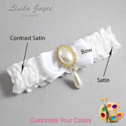 Customizable Wedding Garter / Michaela #01-B31-M34